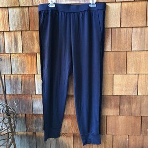 NWT Eileen Fisher Navy Blue Track Pant - Large